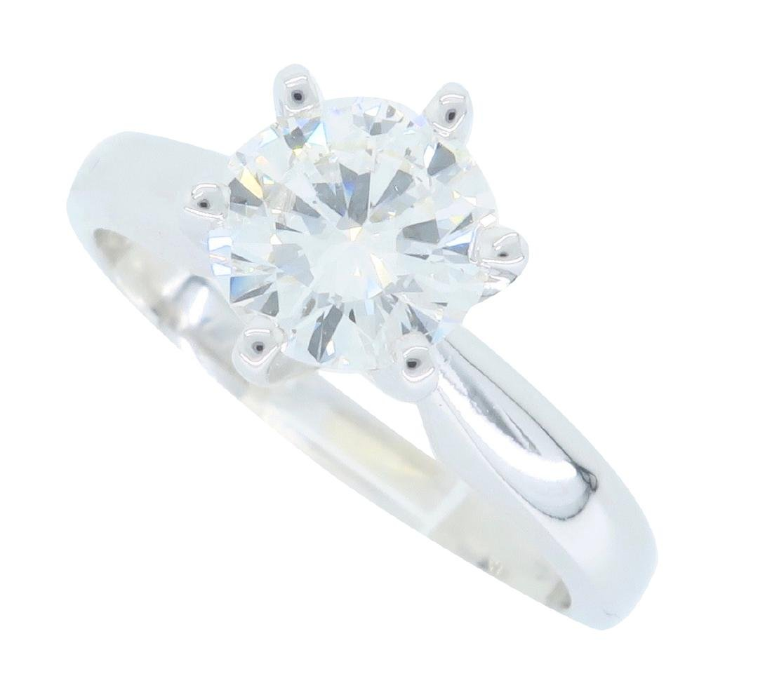 14KT White Gold 0.90ct GIA Cert Diamond Ring