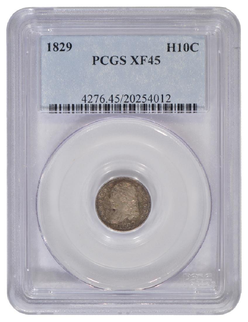 1829 Bust Half Dime PCGS XF45