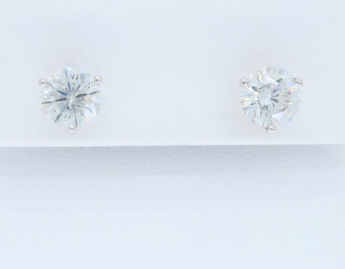 14KT White Gold 2.18ctw Leo Diamond Earrings