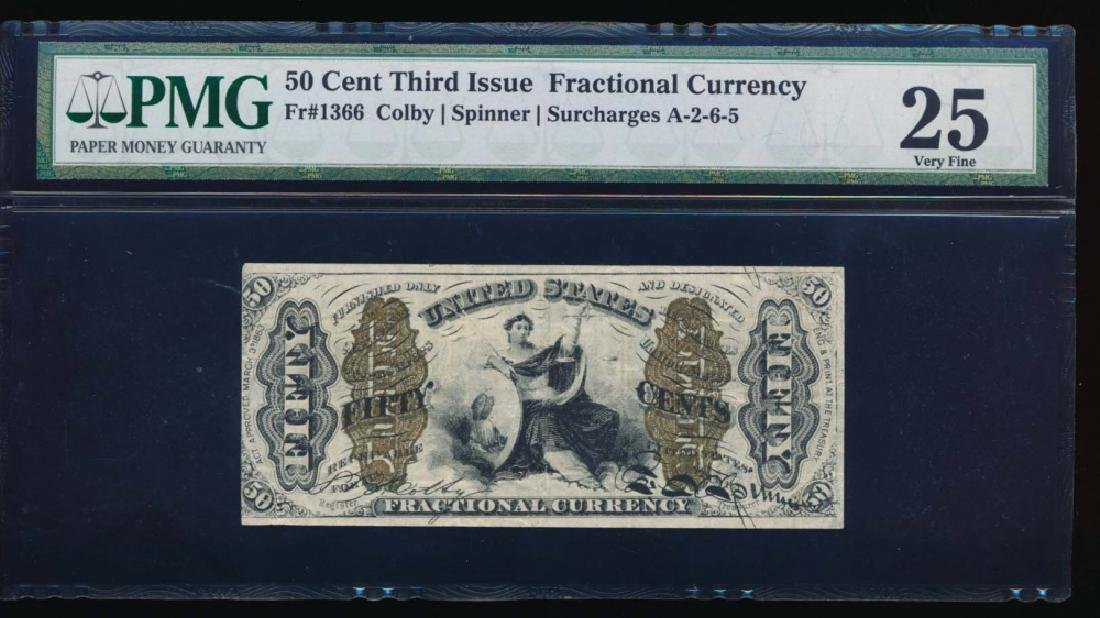 50 Cent Third Issue Fractional Note PMG 25
