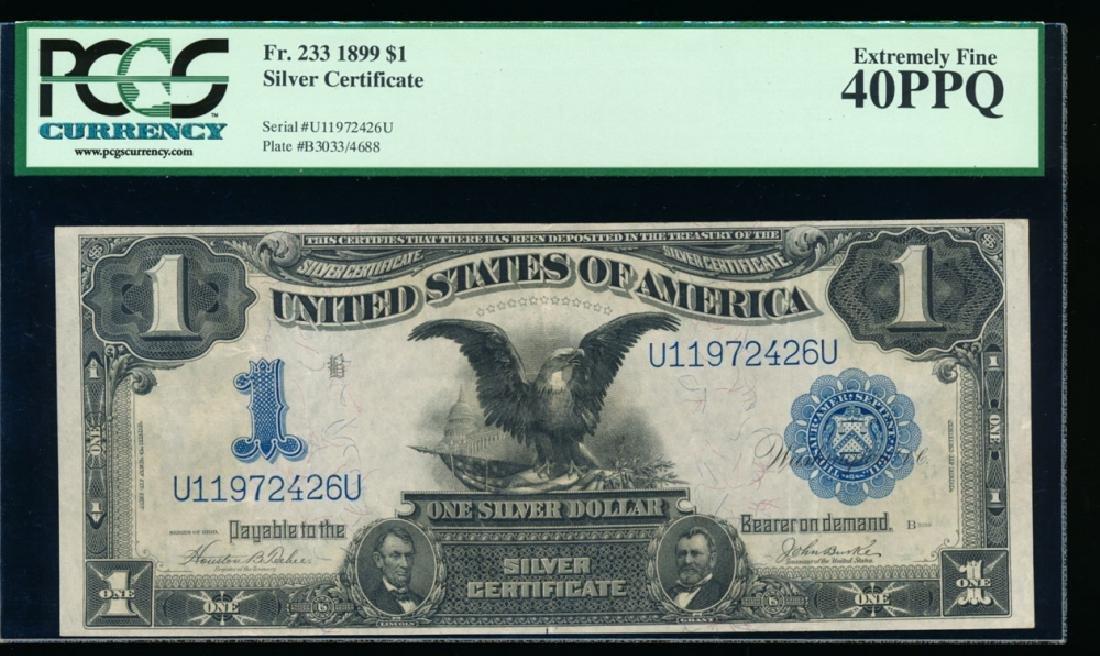 1899 $1 Black Eagle Silver Certificate PCGS 40PPQ