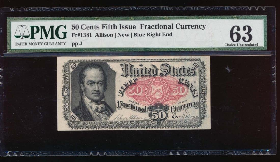 50 Cent Fifth Issue Fractional Note PMG 63