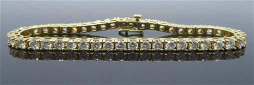 14KT Yellow Gold 600ctw Diamond Tennis Bracelet