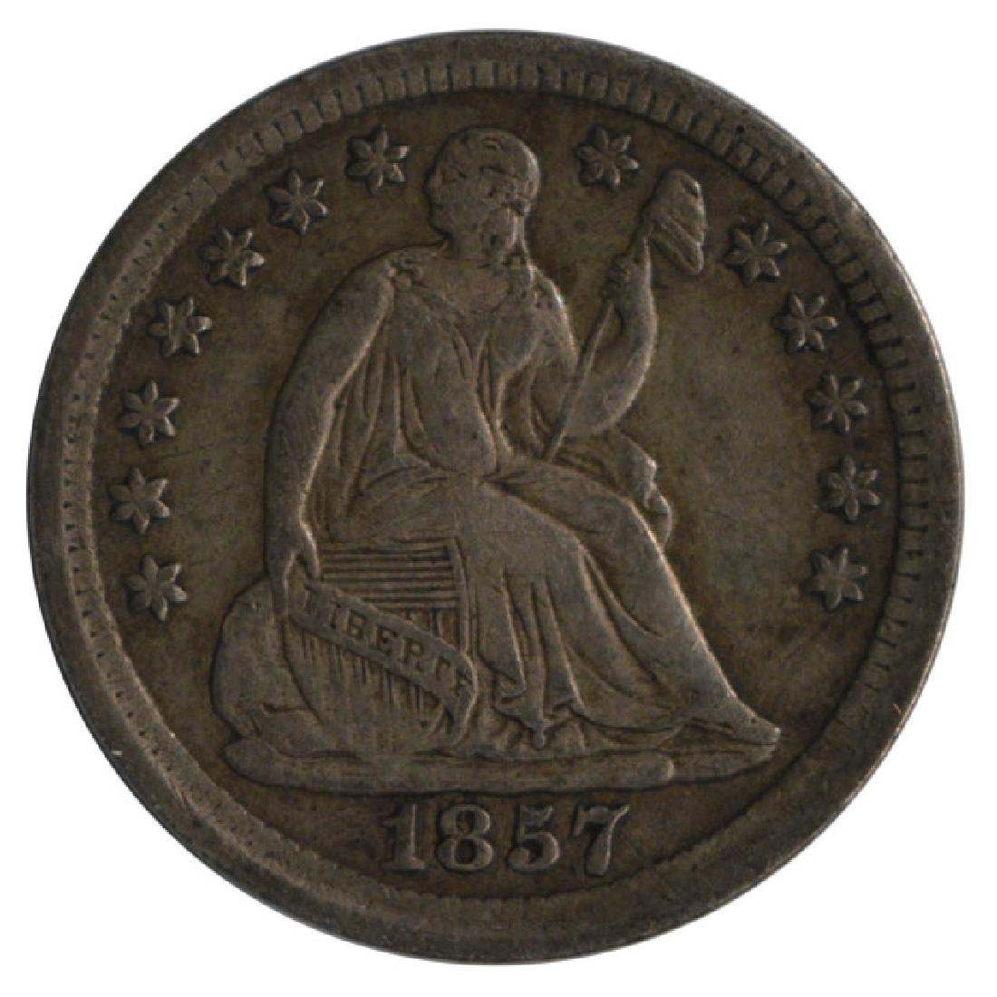 1857 Seated Liberty Half Dime Coin