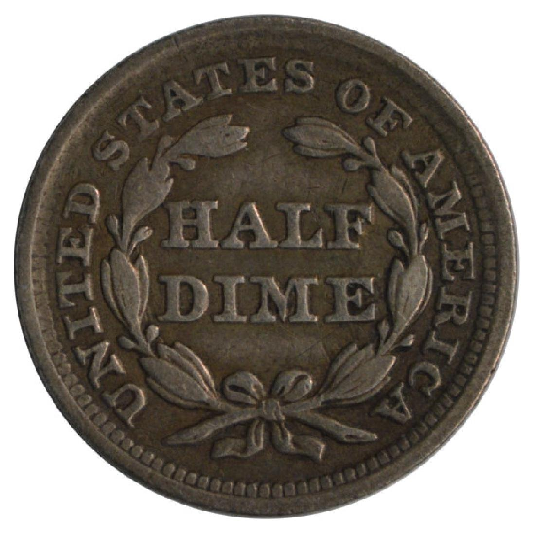 1857 Seated Liberty Half Dime Coin - 2
