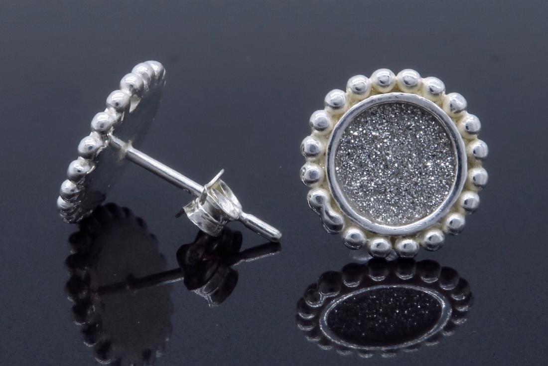 Sterling Silver Glitter Earrings