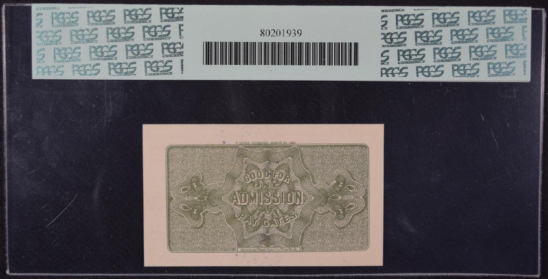 1893 Worlds Columbian Exposition Ticket PCGS 66PPQ - 2
