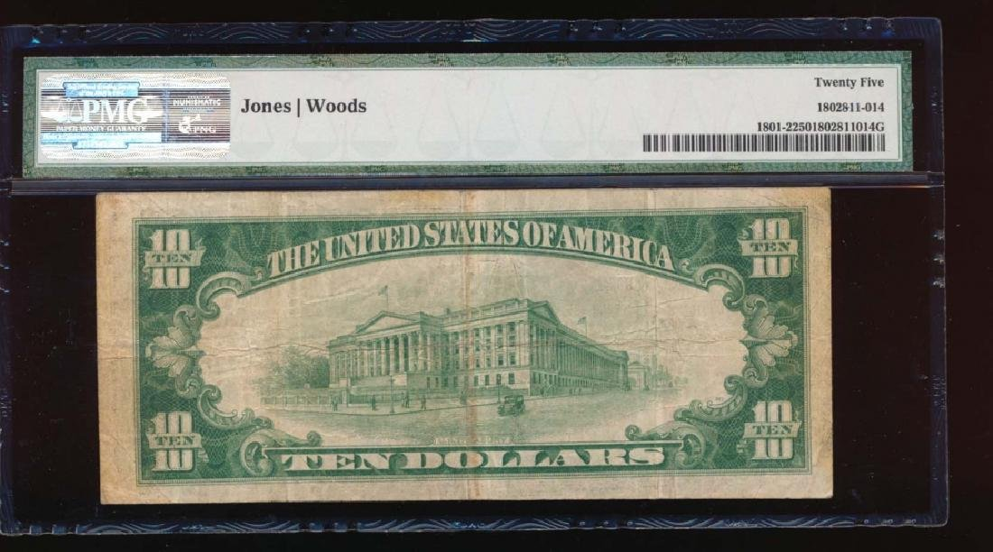 1929 $10 Los Angeles Nation Bank Note PMG 25 - 2