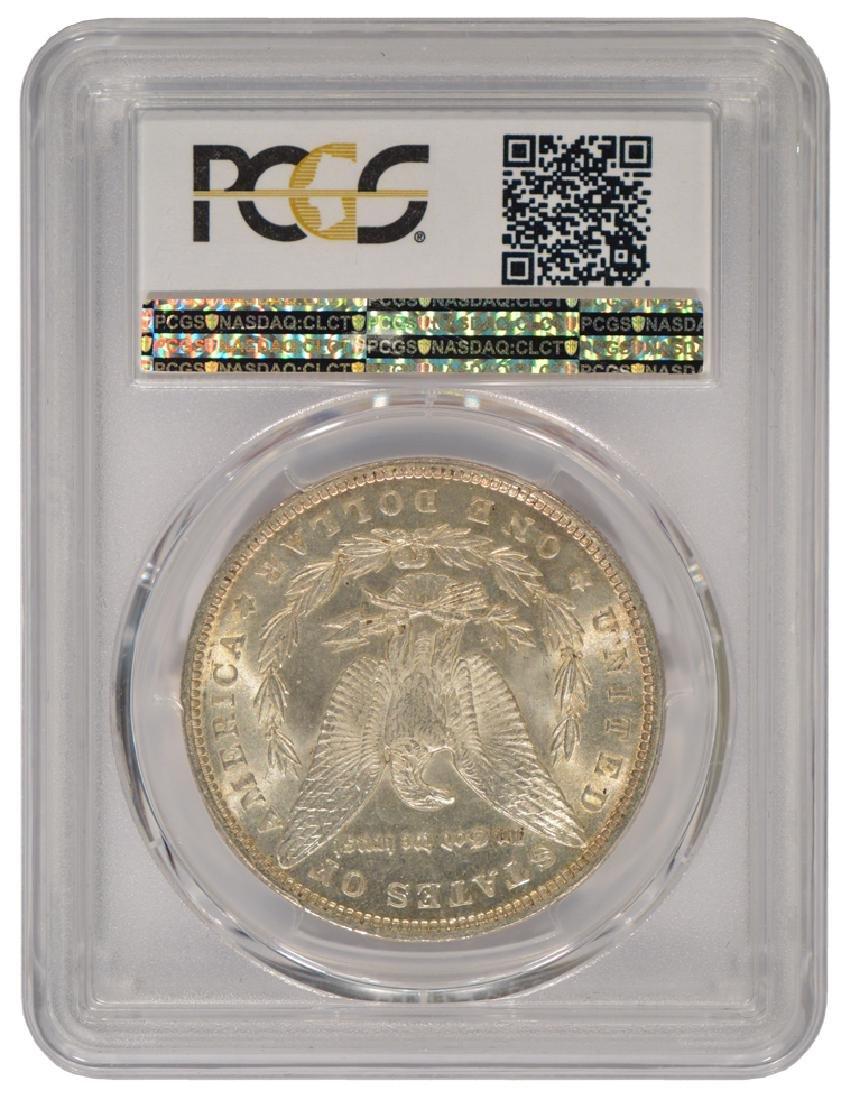 1890 $1 Morgan Silver Dollar Coin PCGS MS63 - 2
