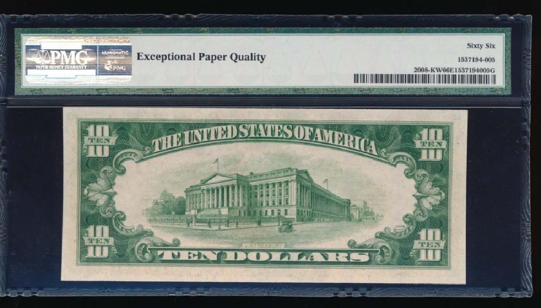 1934C $10 Dallas Federal Reserve Note PMG 66EPQ - 2