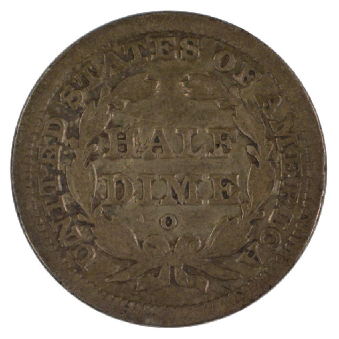 1842-O Liberty Seated Half Dime Coin - 2