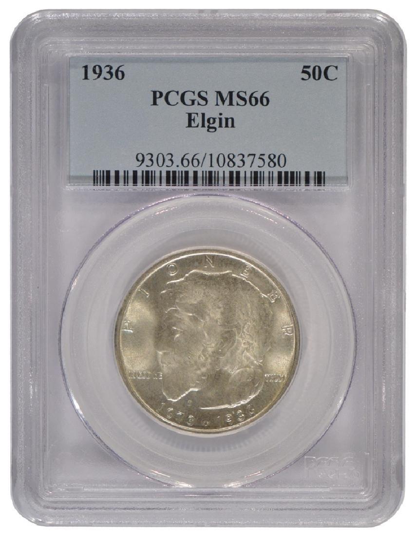 1936 Elgin Commemorative Half Dollar Coin PCGS MS66