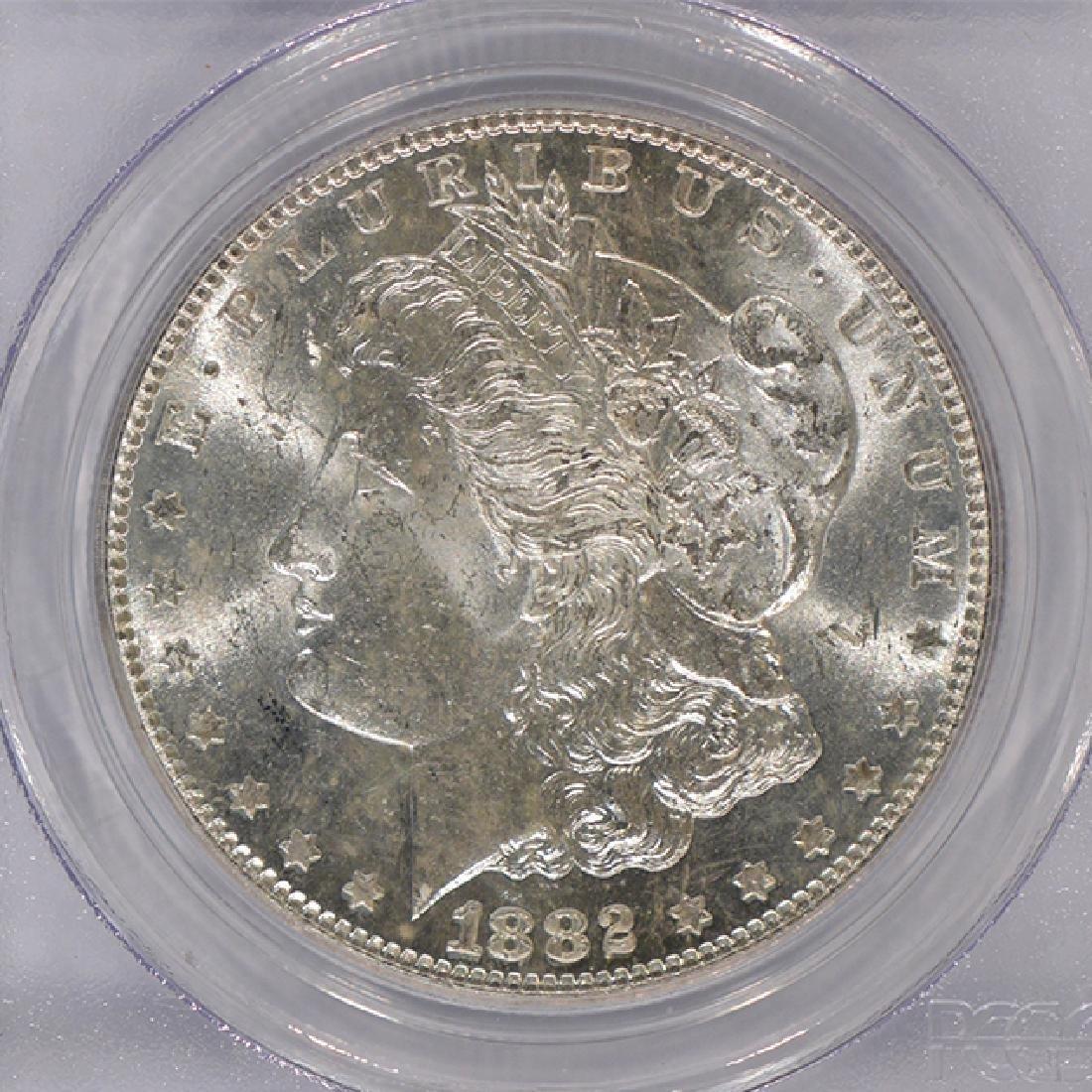 1882-S $1 Morgan Silver Dollar Coin PCGS MS63 - 3