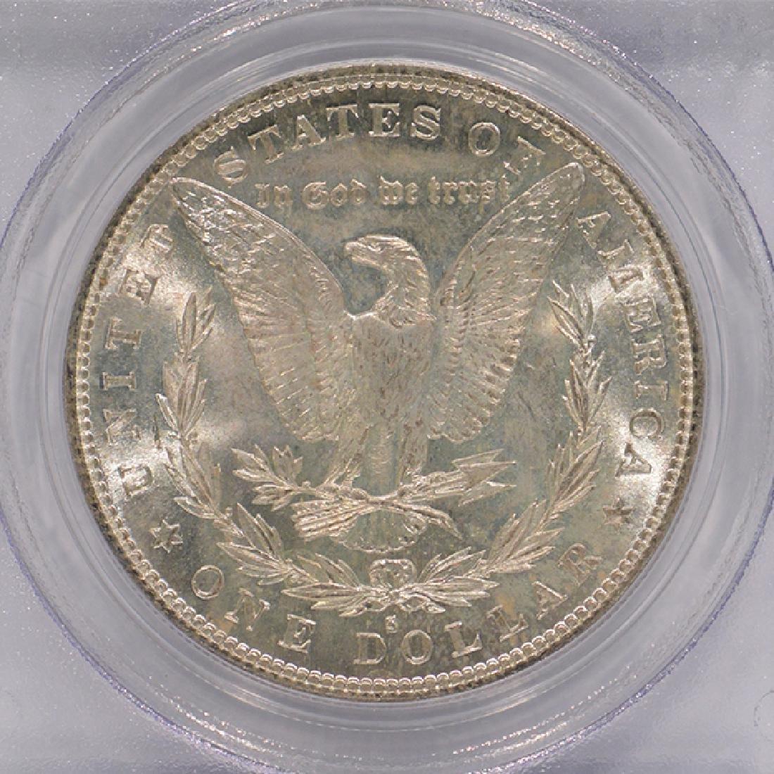 1882-S $1 Morgan Silver Dollar Coin PCGS MS63 - 4
