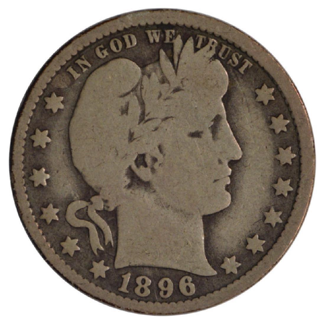 1896-O Barber Quarter Coin