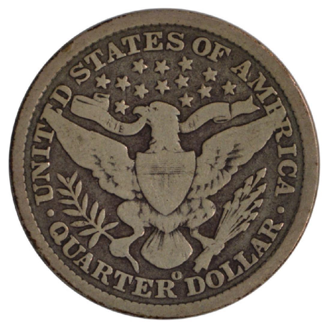 1896-O Barber Quarter Coin - 2