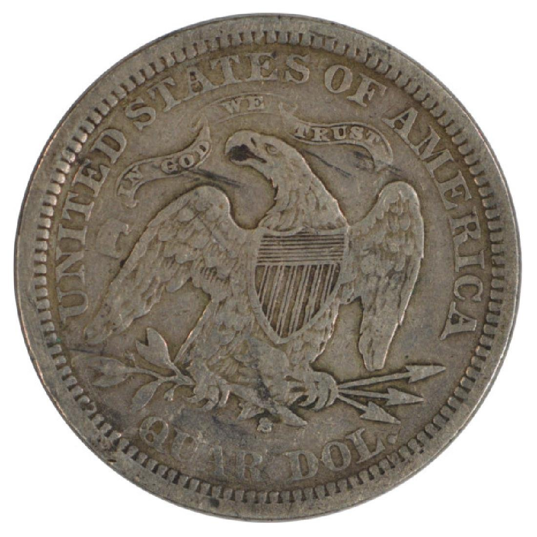 1873-S Arrows Liberty Seated Quarter Coin - 2