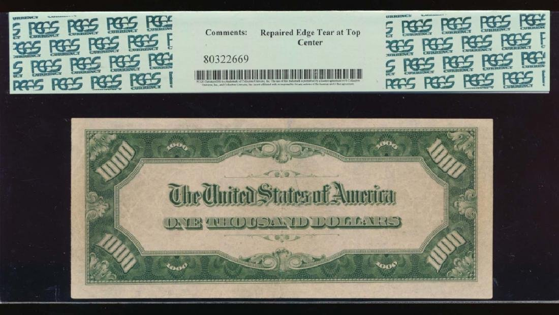 1934A $1000 Boston Federal Reserve Note PCGS 45 - 2