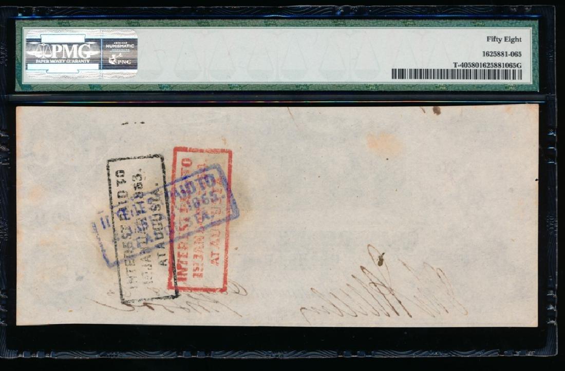 1861 $100 Confederate States of America Note PMG 58 - 2