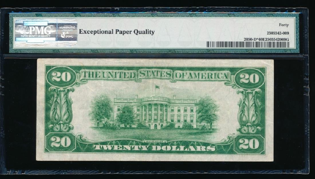 1928 $20 Cleveland Federal Reserve Note PMG 40EPQ - 2