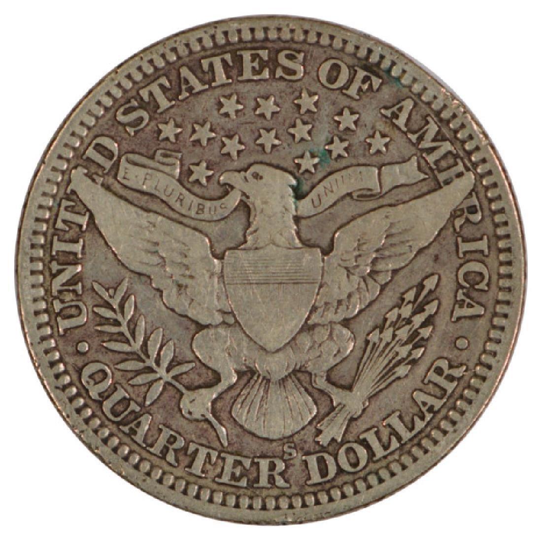 1912-S Barber Quarter Coin - 2
