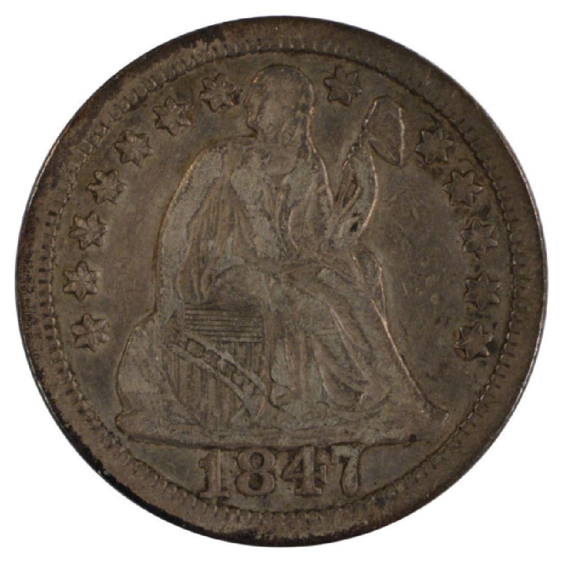 1847 Seated Liberty Dime