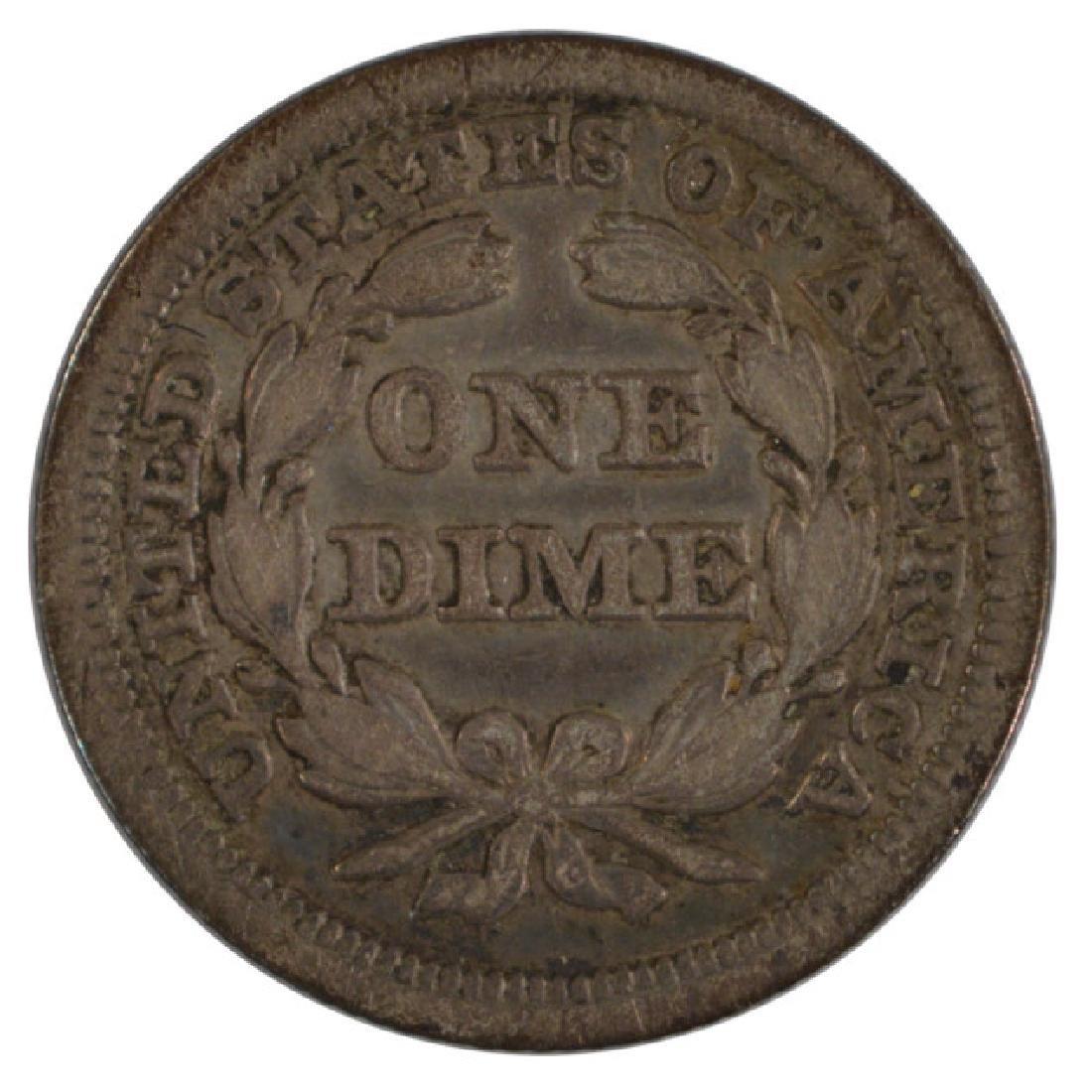 1847 Seated Liberty Dime - 2