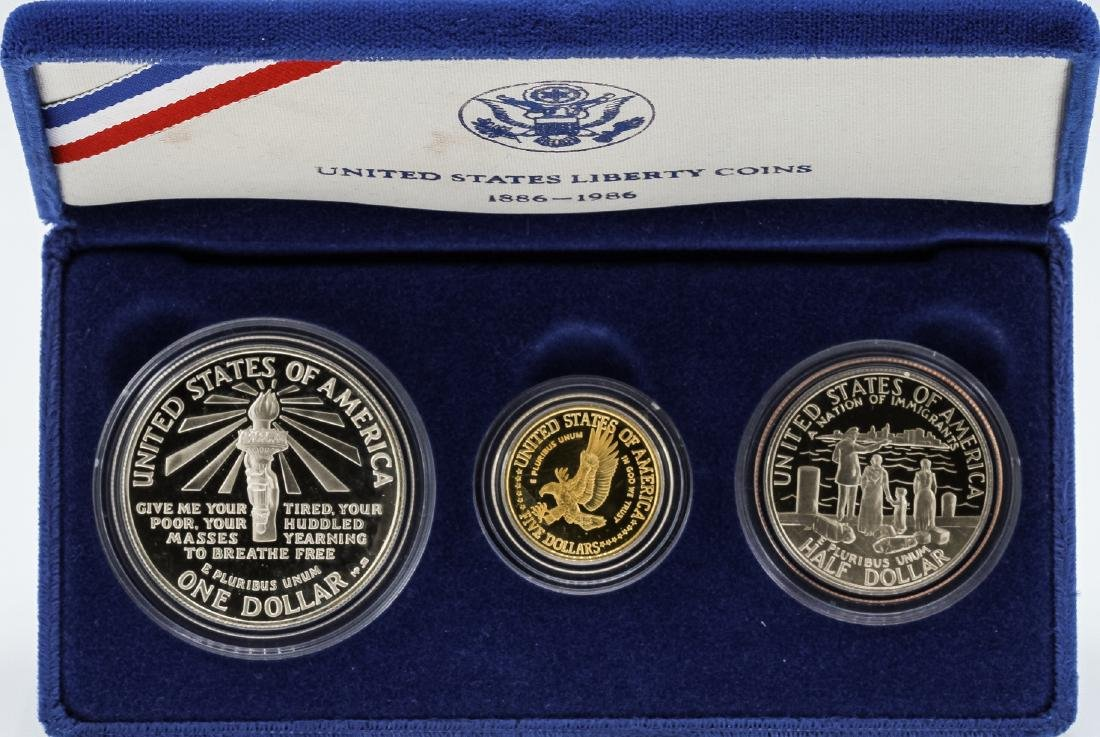 Set of (3) 1986 United States Liberty Coins - 2