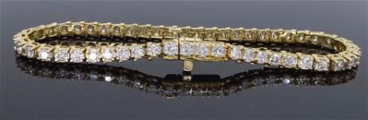 14KT Yellow Gold 350ctw Diamond Tennis Bracelet