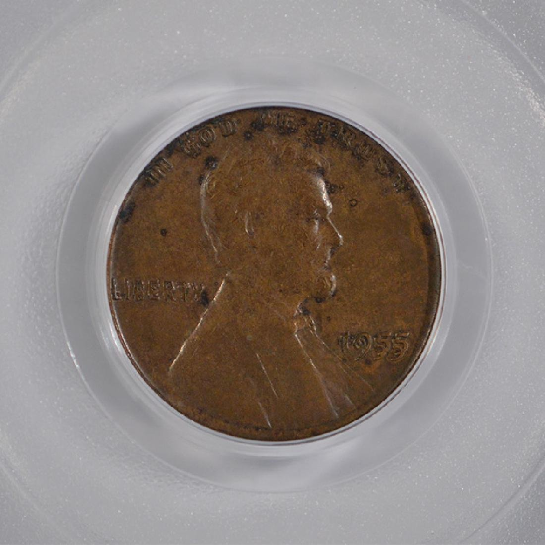 1955 Double Die Lincoln Cent PCGS XF45 - 3
