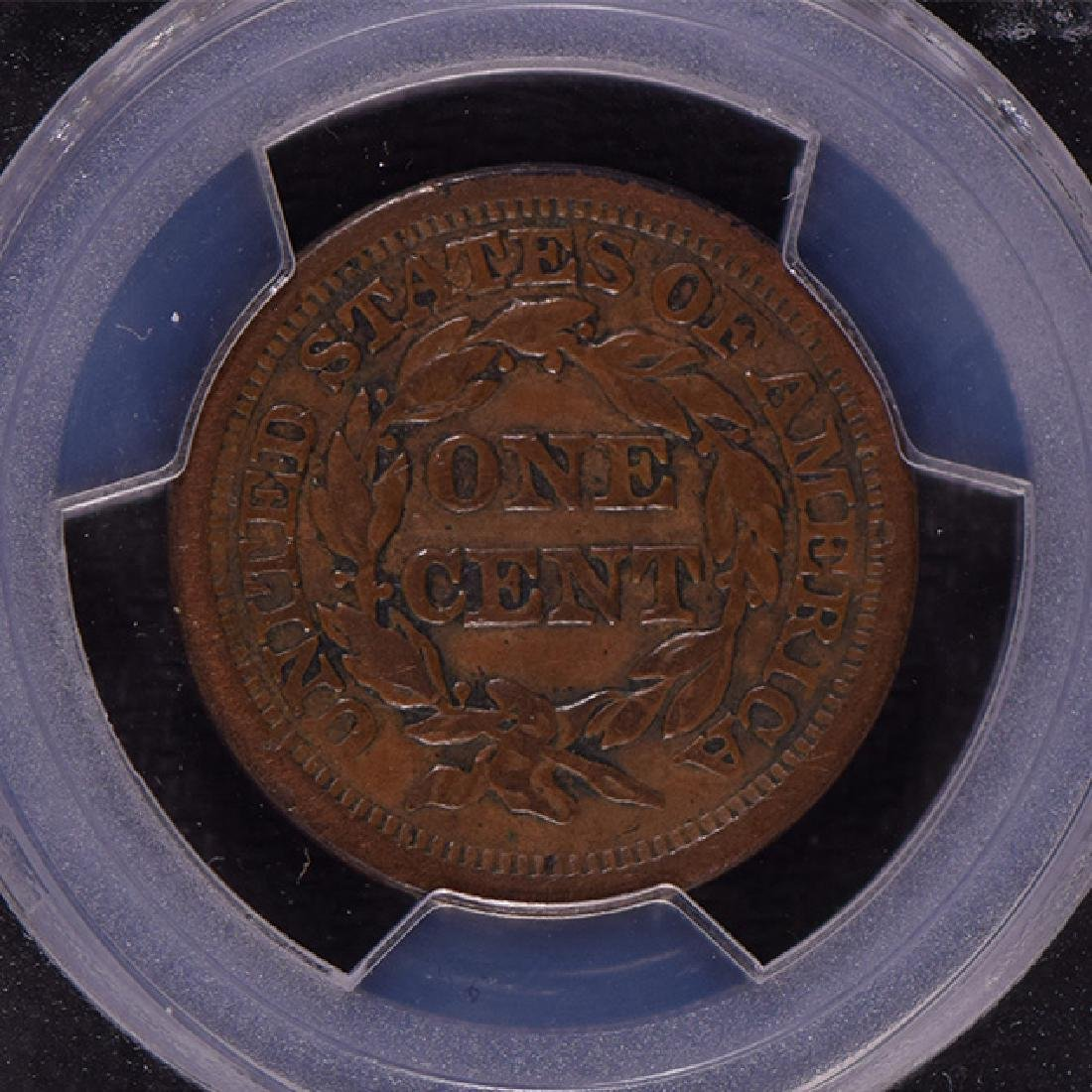 1849 Braided Hair Large Cent Coin PCGS VF25 - 4