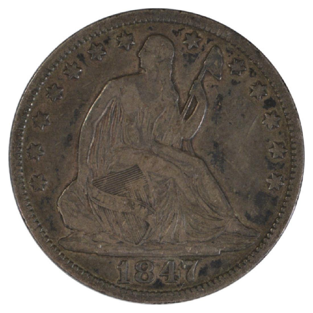 1847 Liberty Seated Half Dollar Coin