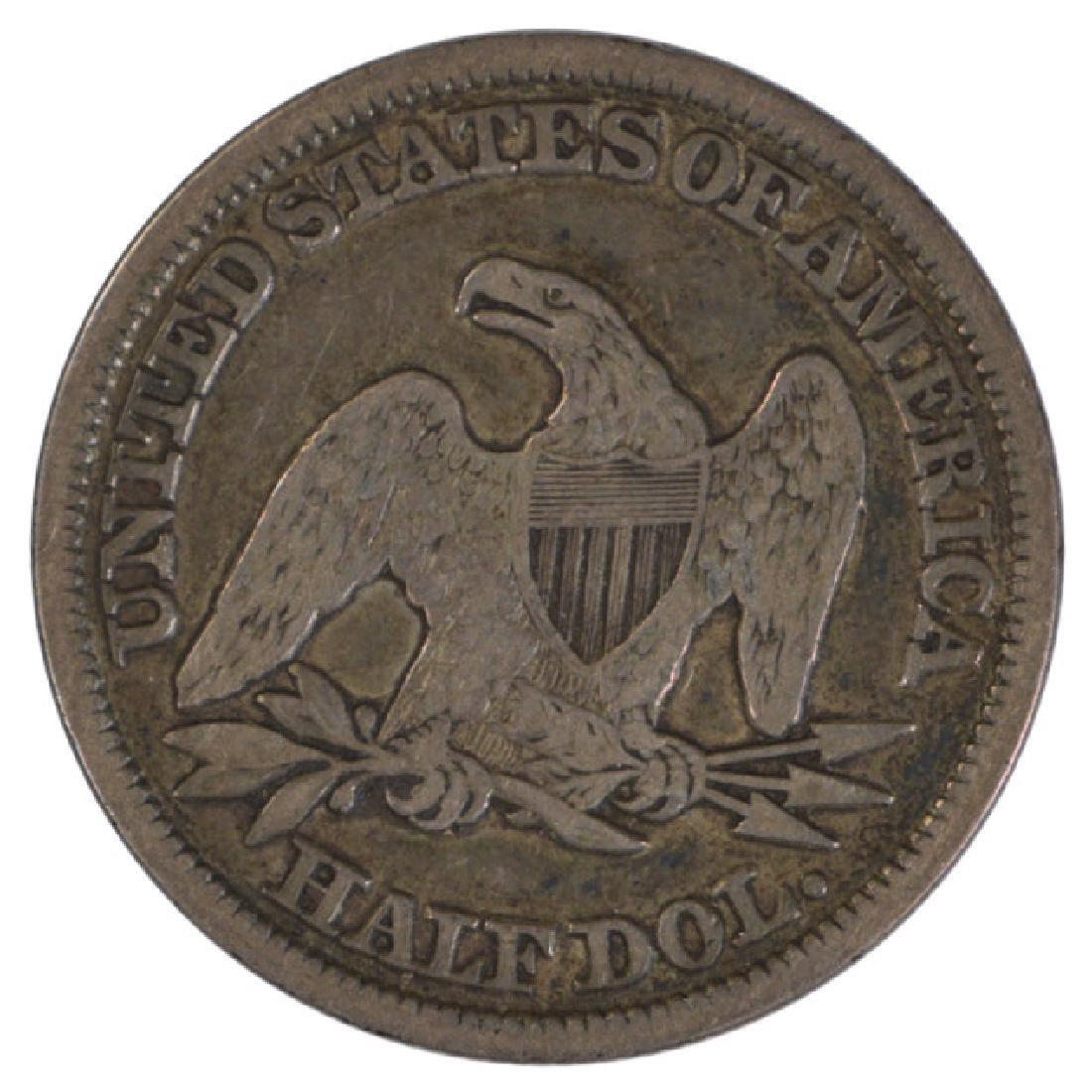 1847 Liberty Seated Half Dollar Coin - 2