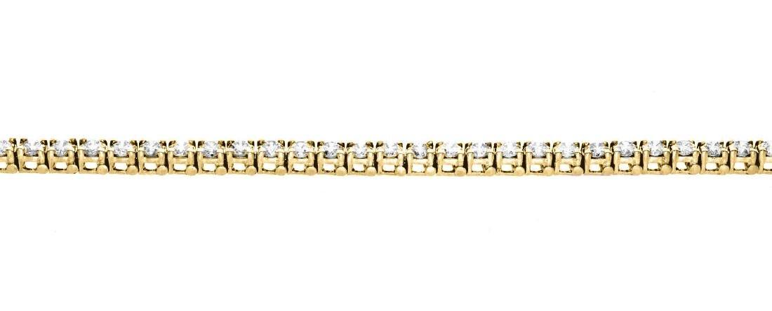 18KT Yellow Gold 5.00ctw Diamond Tennis Bracelet - 2