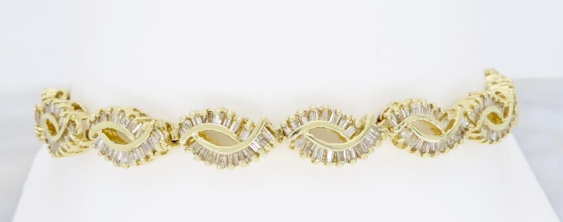 14KT Yellow Gold 2.08ctw Diamond Bracelet