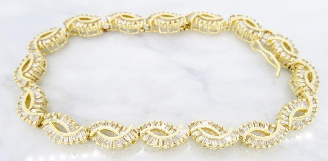 14KT Yellow Gold 2.08ctw Diamond Bracelet - 3