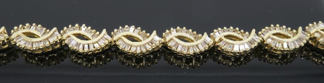 14KT Yellow Gold 2.08ctw Diamond Bracelet - 5