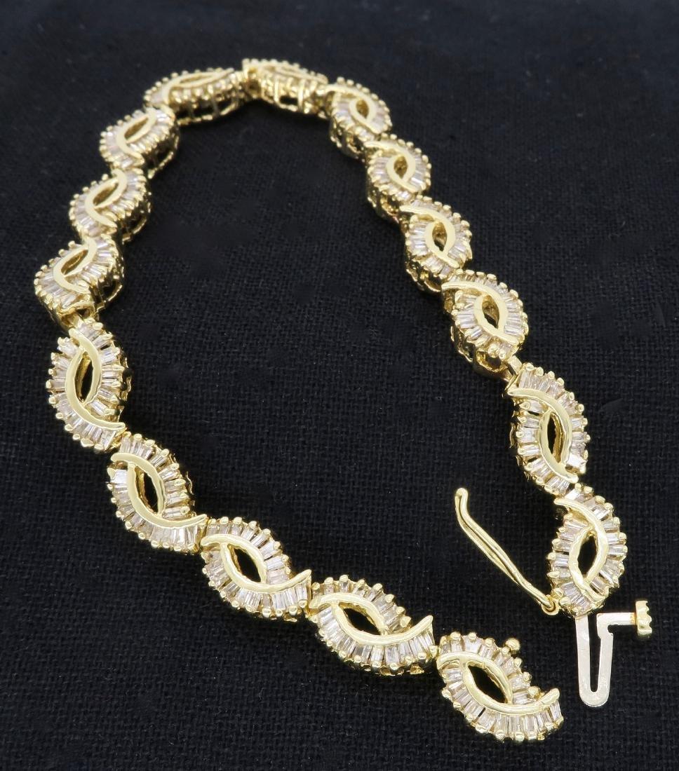 14KT Yellow Gold 2.08ctw Diamond Bracelet - 7
