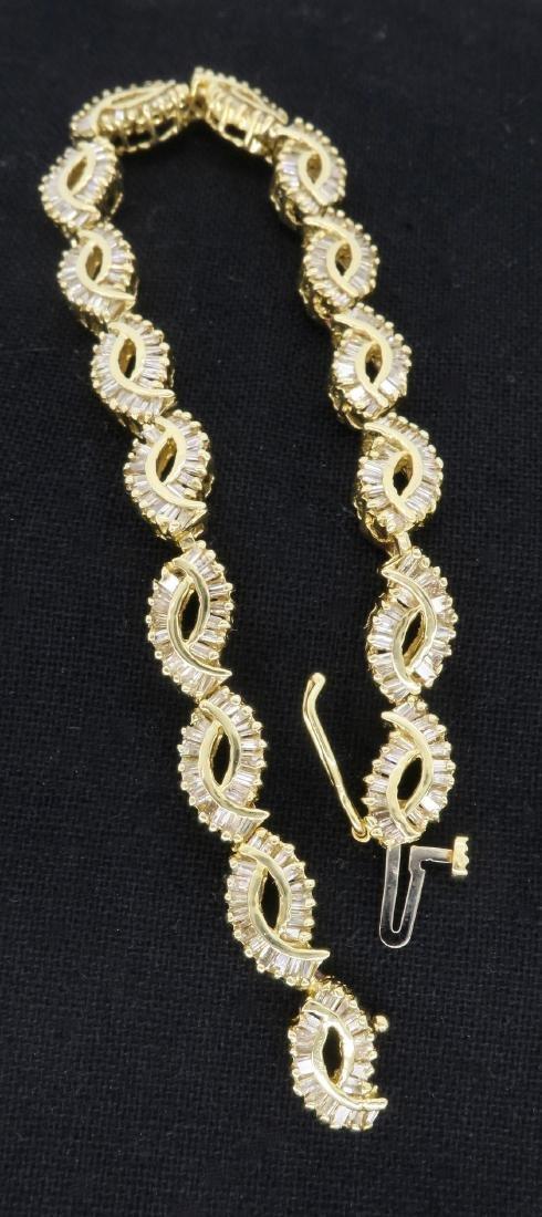 14KT Yellow Gold 2.08ctw Diamond Bracelet - 8