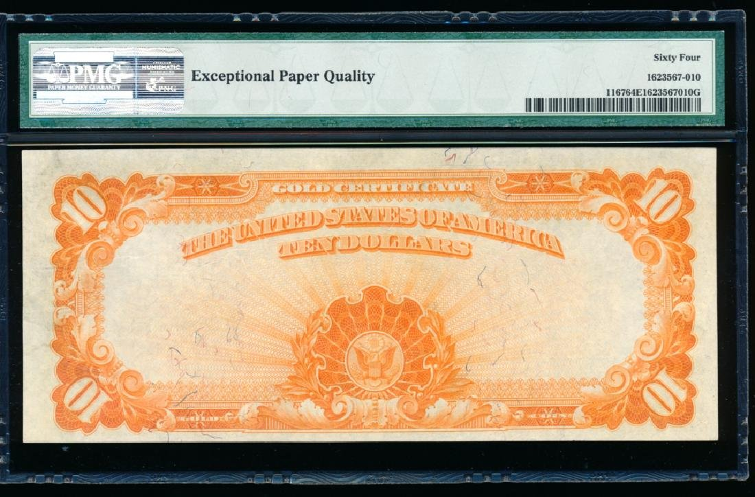 1907 $10 Large Gold Certificate PMG 64EPQ - 2