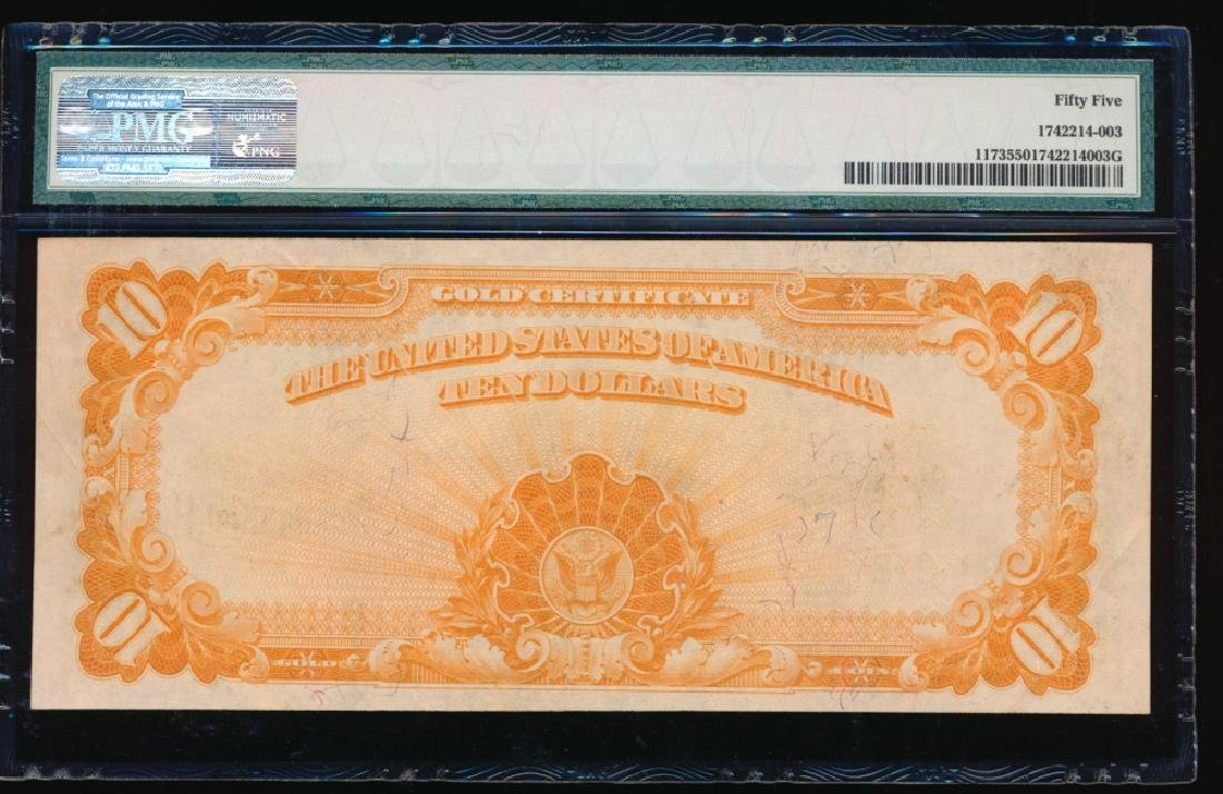 1922 $10 Large Gold Certificate PMG 55 - 2
