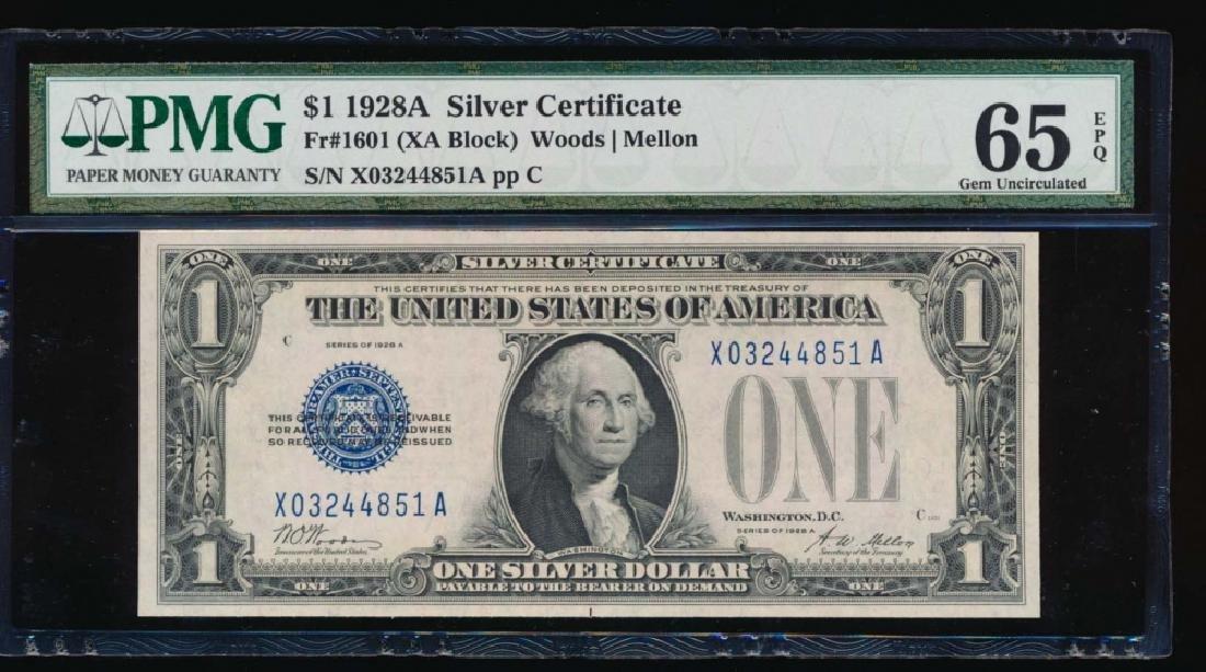 1928A $1 Silver Certificate PMG 65EPQ
