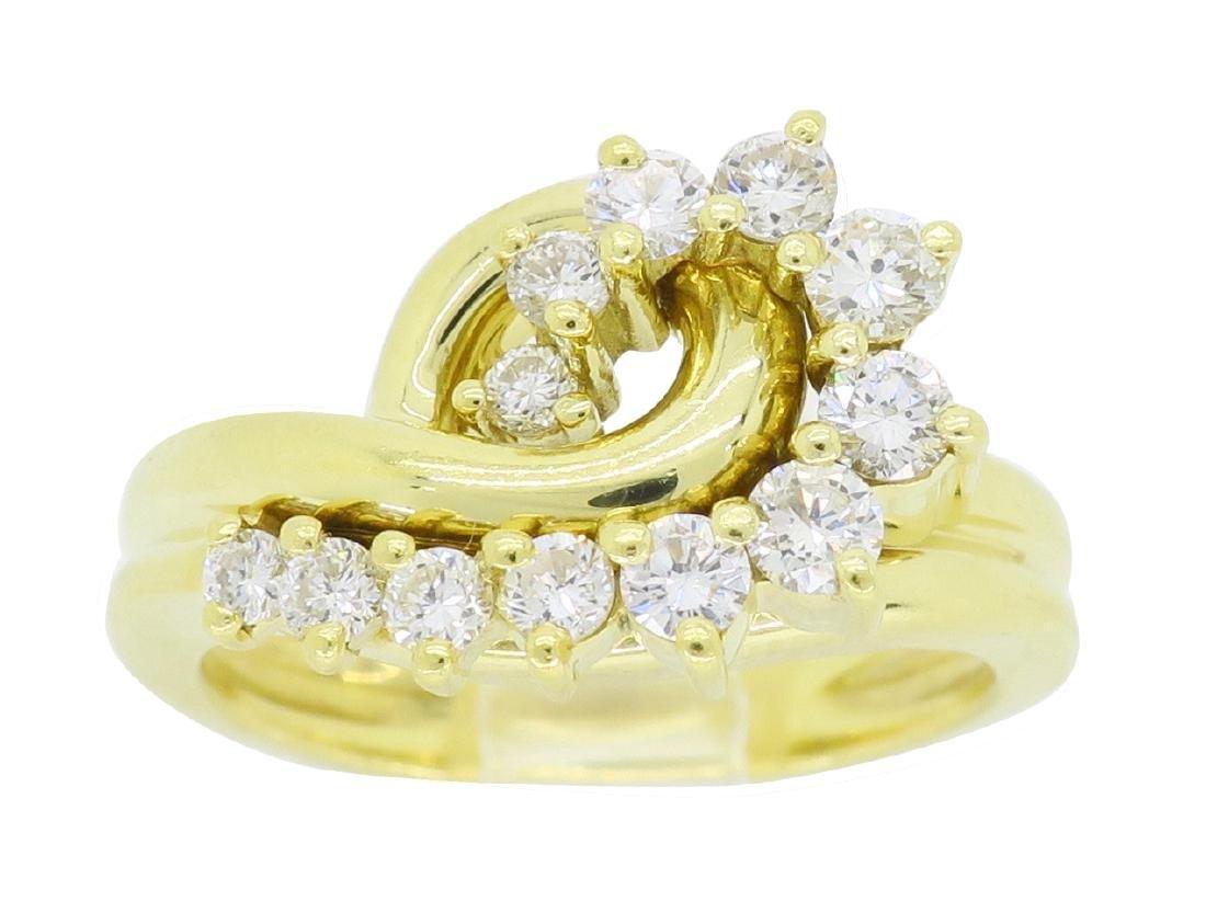 18KT Yellow Gold 0.60ctw Diamond Ring