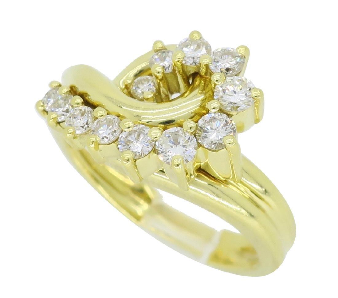 18KT Yellow Gold 0.60ctw Diamond Ring - 2