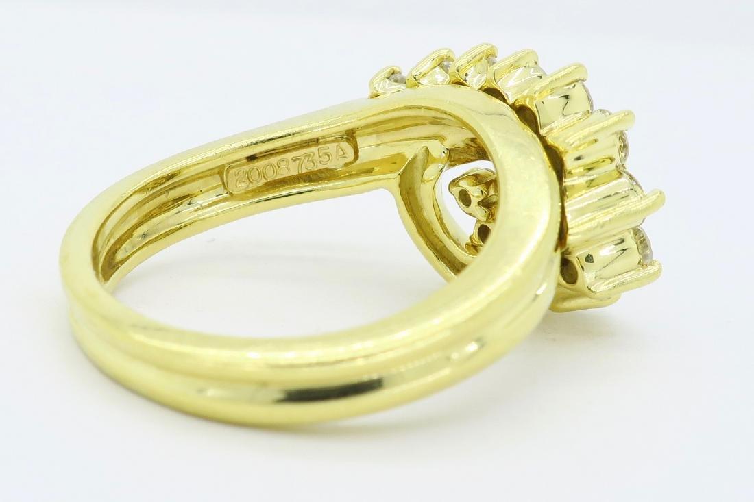 18KT Yellow Gold 0.60ctw Diamond Ring - 4