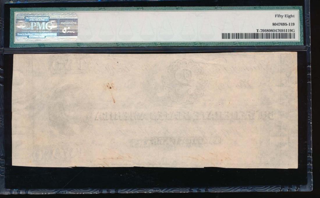1864 $2 Confederate States of America Note PMG 58 - 2