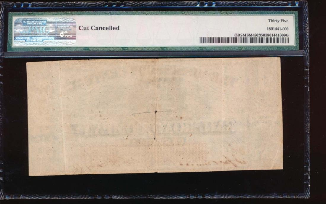 1862 $1 Mississippi Central Rail Road Co Obsolete Note - 2