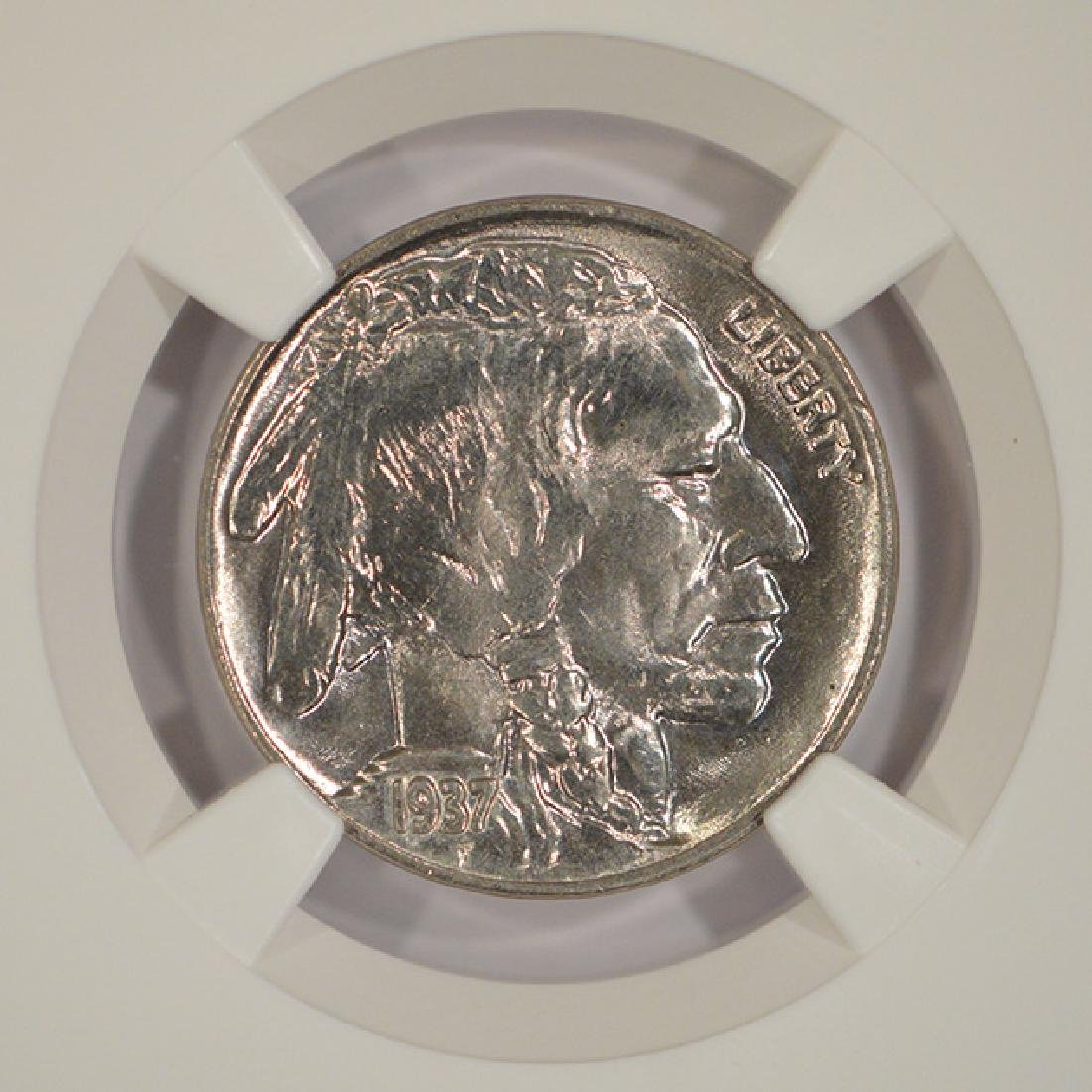 1937-D Buffalo Nickel Coin NGC MS66 - 3