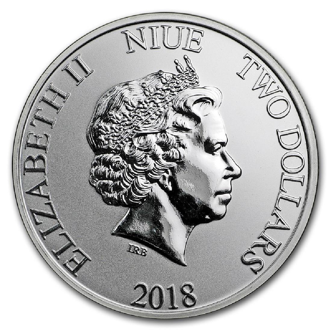 2018 $2 Disney Scrooge McDuck Niue Silver Coin - 2