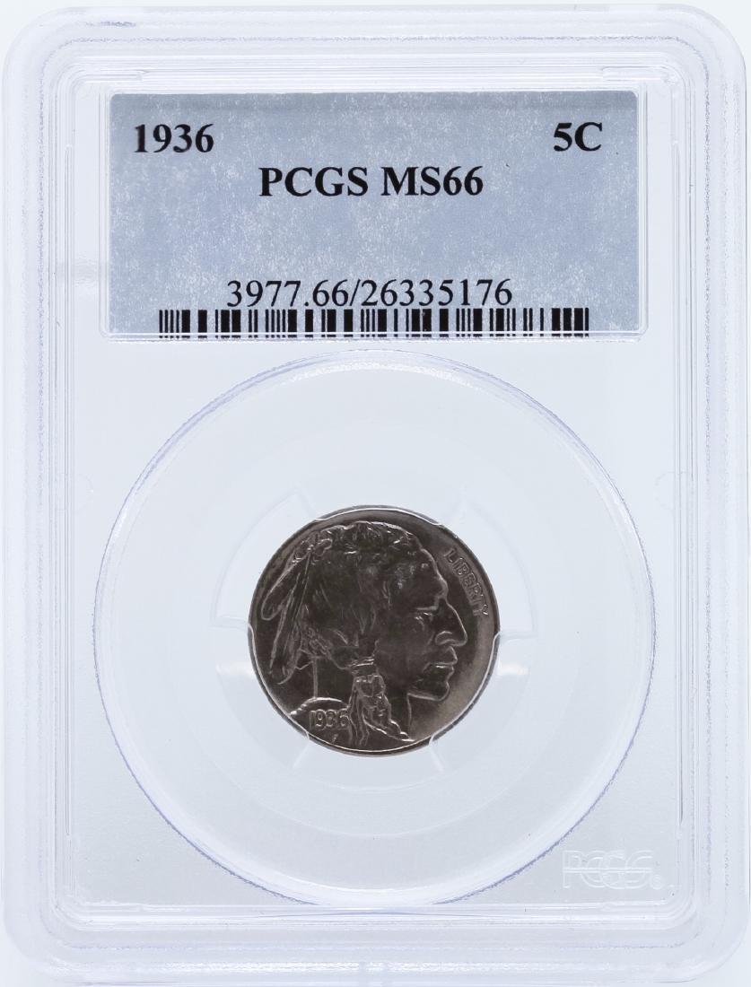1936 Buffalo Nickel PCGS MS66